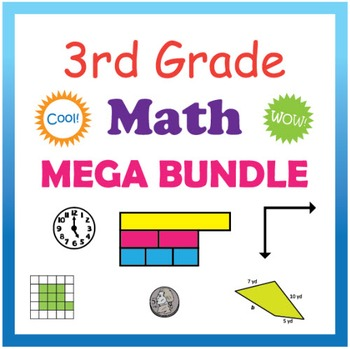 3rd Grade Math Mega Bundle (CCSS)
