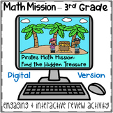 3rd Grade Math Mission - Digital Escape Room - Pirates Addition and Sub Mystery