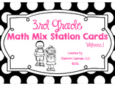 3rd grade Math Review Station Cards