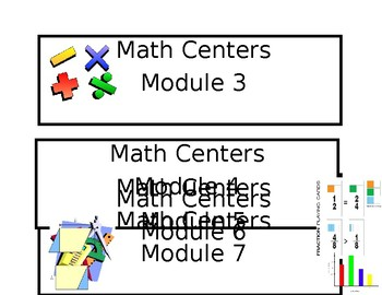 3rd Grade Math Module labels for center bins