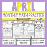 3rd Grade Math Morning Work | April | 3rd Grade Math Spira
