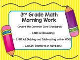 3rd Grade Math Morning Work Warm Up