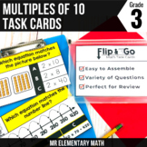 Multiples of 10 Task Cards 3rd Grade Math Centers