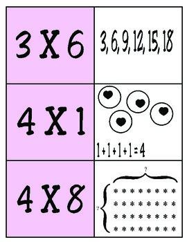 3rd Grade Math: Multiplication Match TEKS 3.4E