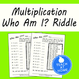 3rd Grade Math Multiplication Worksheets - Who Am I? Riddles