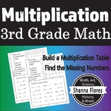 3rd Grade Math Multiplication Worksheet Packet with Answer
