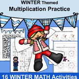 3rd Grade Math: Multiplication Worksheets: WINTER