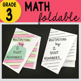 Doodle Notes - 3rd Grade Math Multiplying 2 Digit by 1 Digit Numbers