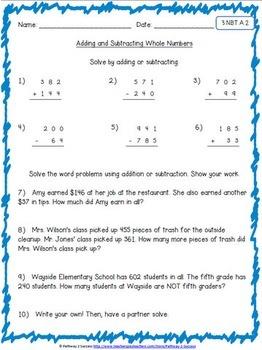 3rd Grade Math NO PREP Worksheets