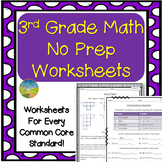 3rd Grade Math NO PREP Worksheets
