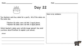 3rd Grade Math NYS Review: Question of the Day