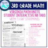 3rd Grade Math Notebook Learning Target Tabs (VA)