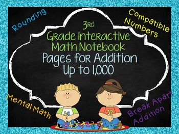 3rd Grade Math Notebook Pages Addition within 1,000
