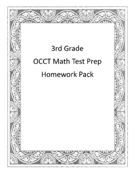 3rd Grade Math OCCT Test Prep Homework/Worksheets