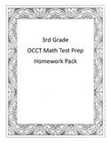 3rd Grade Math OCCT Test Prep Homework/Worksheets