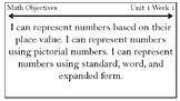3rd Grade Math Objectives Chart