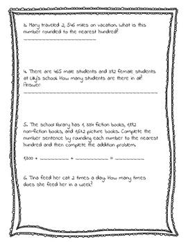 3rd grade Math OHIO Test Prep Assessment #3