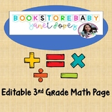 3rd Grade Math Page