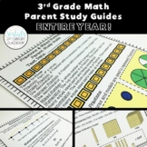 3rd Grade Math Parent Study Guides Bundle- ENTIRE YEAR!