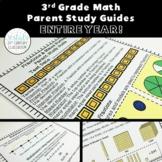 3rd Grade Math Parent Study Guides Bundle- ENTIRE YEAR!