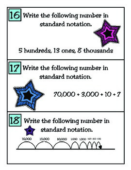3rd Grade Math: Place Value Task Cards TEKS 3.2A