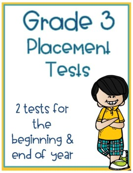 3rd Grade Math Placement Beginning of the Year & End of Year Test or Math Review
