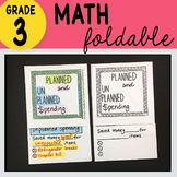 Doodle Notes - 3rd Grade Math Planned & Unplanned Spending Foldable