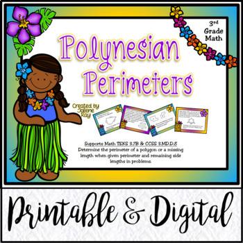 3rd Grade Math: Polynesian Perimeters: TEKS 3.7B & CCSS 3.MD.D.8