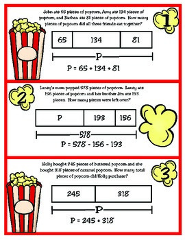 3rd Grade Math: Popping Out With Strip Diagrams TEKS 3.4A