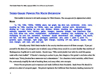 3rd Grade Math Power Pix