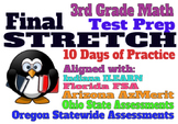 3rd Grade Math Practice: ILEARN, FSA, AZMerit, OR / OH / ID State Assessments