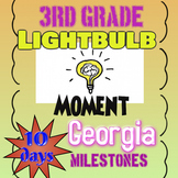 3rd Grade Math 10 Days of Practice for Georgia Milestones EOG Test; no prep!