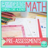 3rd Grade Common Core Math Pre-Assessments