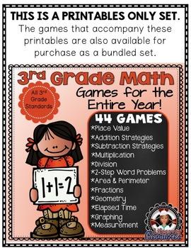 3rd Grade Math Printables - Entire Year!