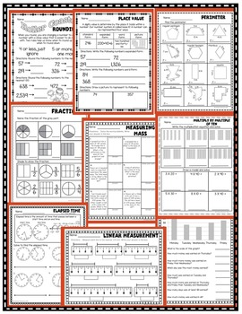 3rd Grade Math Printables - Entire Year!