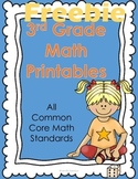 3rd Grade Math Worksheets  - Freebie {Common Core Aligned}