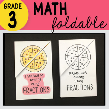 Doodle Notes - 3rd Grade Math Problem Solving Using Fractions Foldable