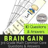3rd Grade Math Questions Brain Gain