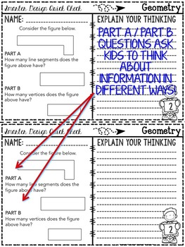 3rd Grade Math: Quick Checks / Exit Slips (Geometry)