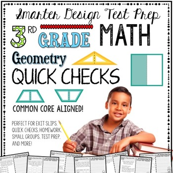 3rd Grade Math: Quick Checks / Exit Slips (Geometry)