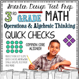 3rd Grade Math: Quick Checks / Exit Slips (Operations & Algebraic Thinking)
