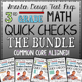 3rd Grade Math: Quick Checks / Exit Slips THE BUNDLE