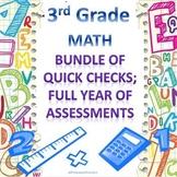 3rd Grade Math Quick Checks Bundle