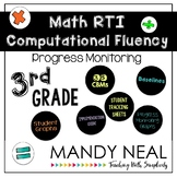 3rd Grade Math RTI Computational Fluency Progress Monitoring