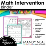 3rd Grade Math RTI Intervention Binder