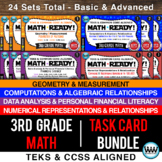 3rd Grade Math Ready Task Card Bundle - CCSS / STAAR / TEKS-Aligned
