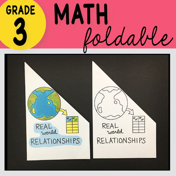 3rd Grade Math Real World Relationships Foldable by Math Doodles