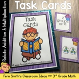 3rd Grade Math Relate Addition and Multiplication Task Cards