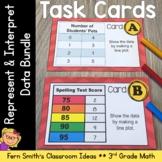 3rd Grade Math Represent and Interpret Data Task Cards Bundle
