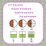 3rd Grade Math (Represent equivalent fractions) EXIT TICKET